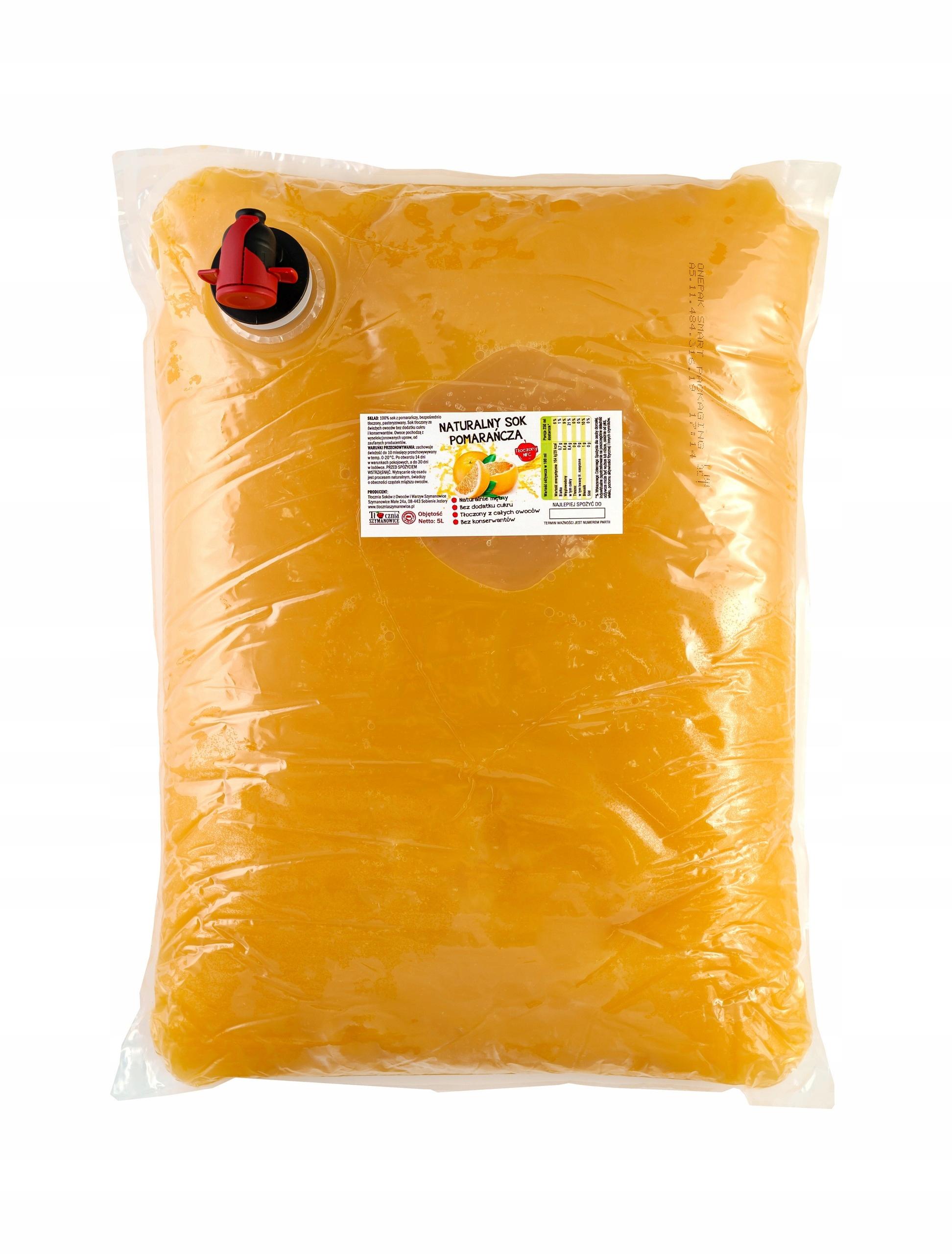 Sok pomarańcz POMARAŃCZY TŁOCZONY 100% NFC 5L
