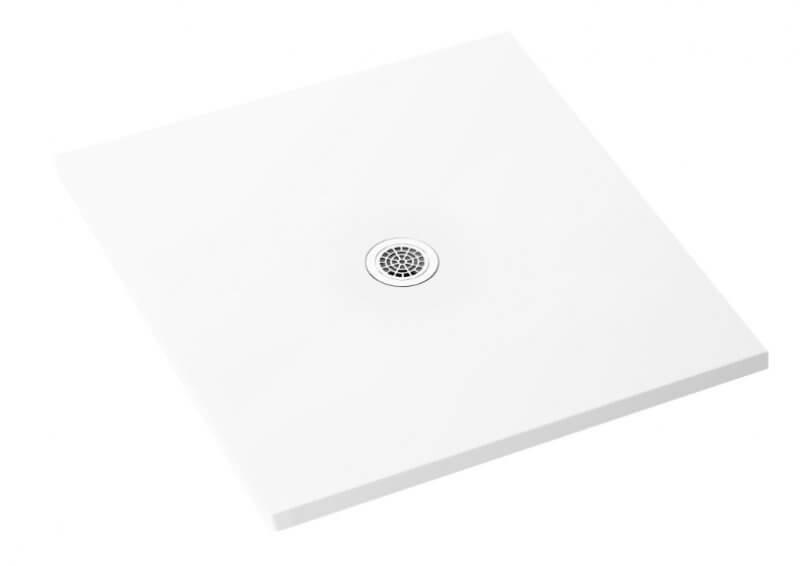 Fresková štvorcová sprchová vanička Biela 100x100x1,3x2,5 cm