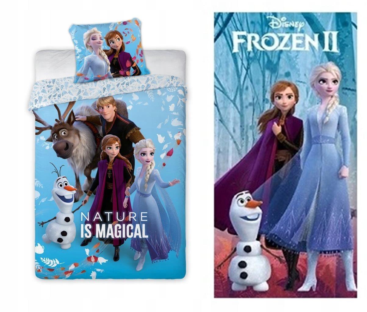 Posteľná bielizeň + Uterák Frozen 160x200 Olaf