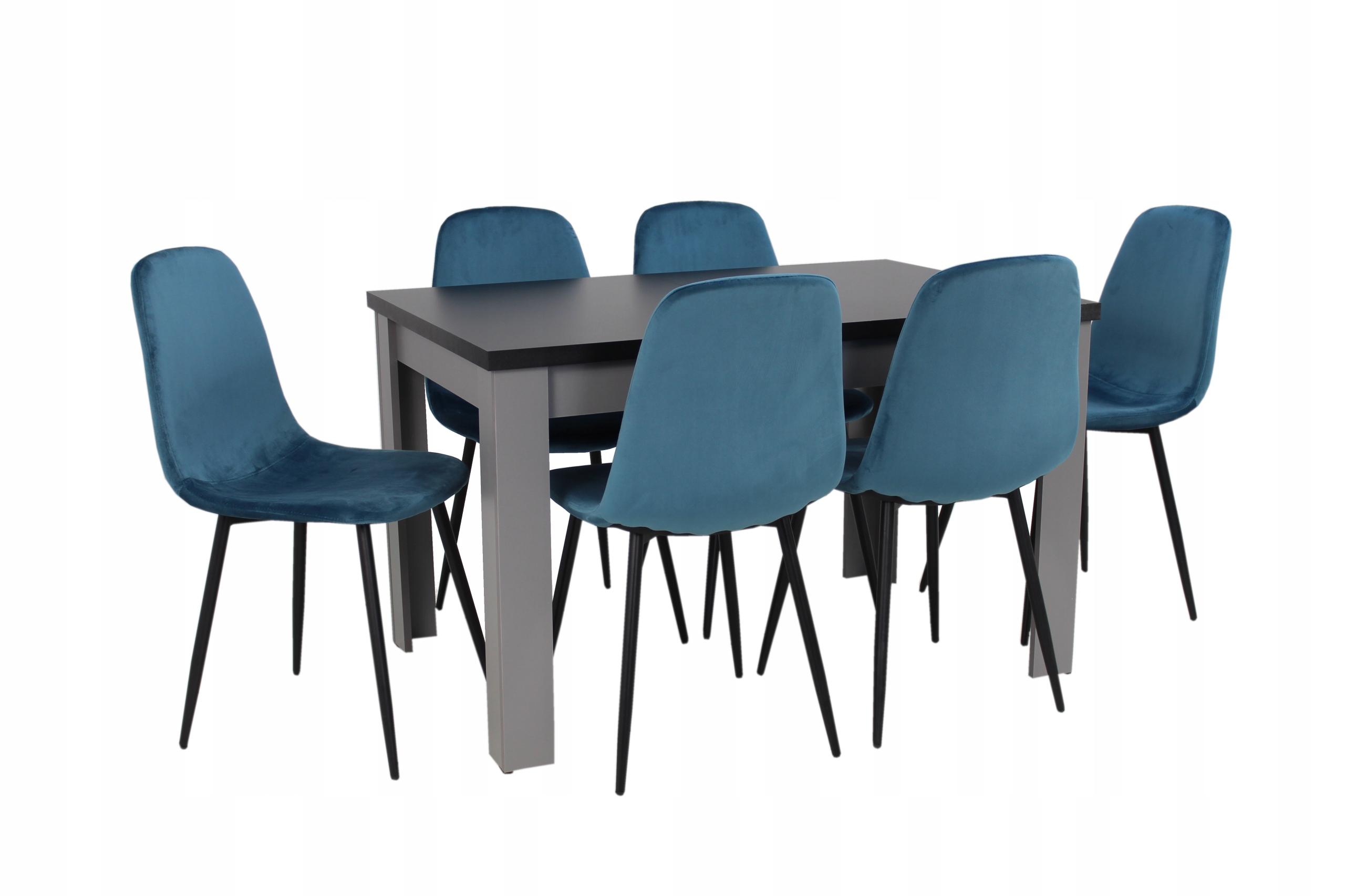 nowoczesny zestaw stół i krzesła do SALONU kuchni