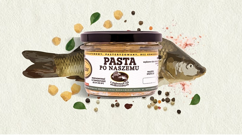 PASTA PO NASZEMU 200g pasta rybna karp Bełżec