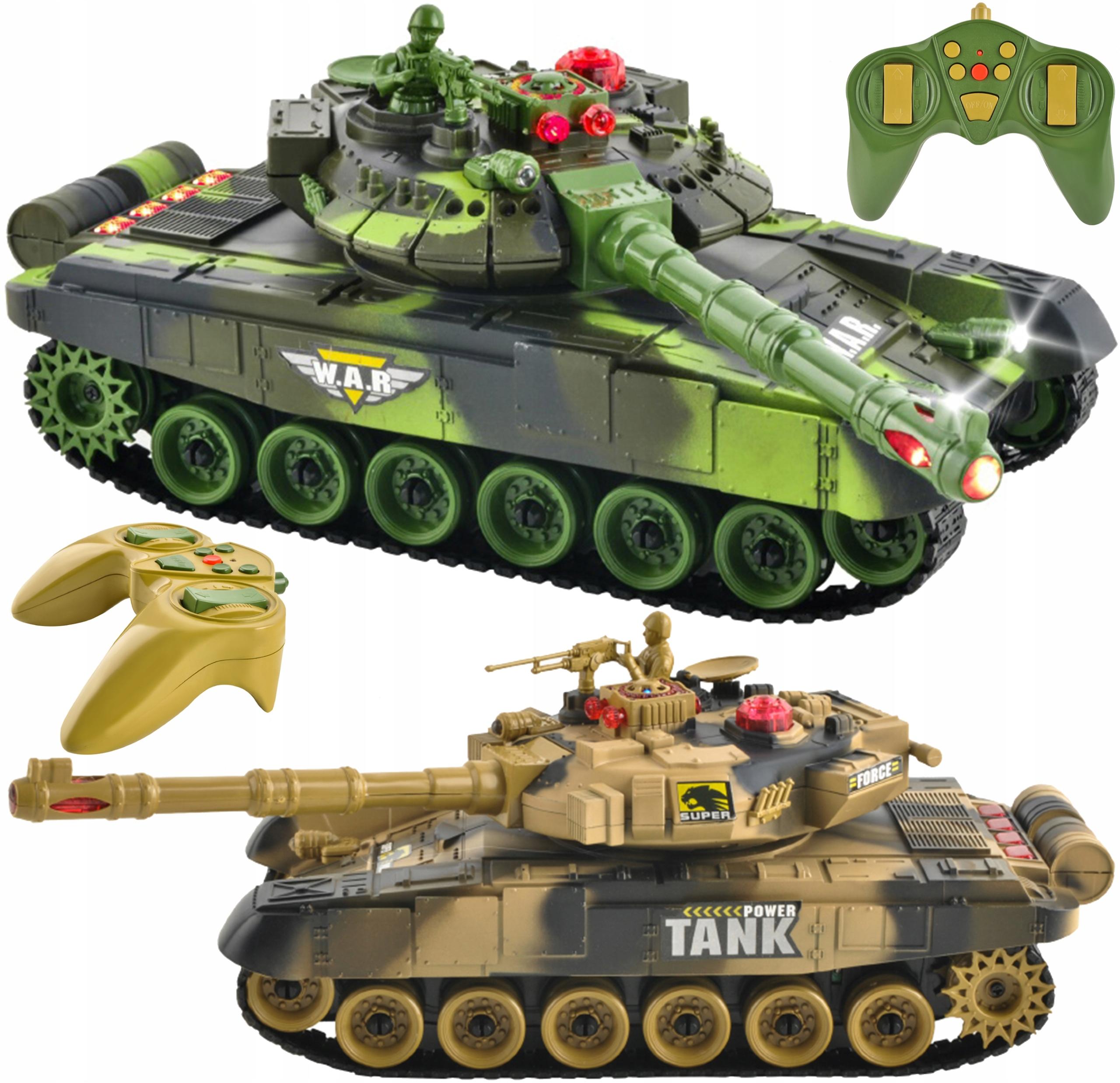 2 Czołgi Czołg Zdalnie Sterowany War Tank 9993 2w1