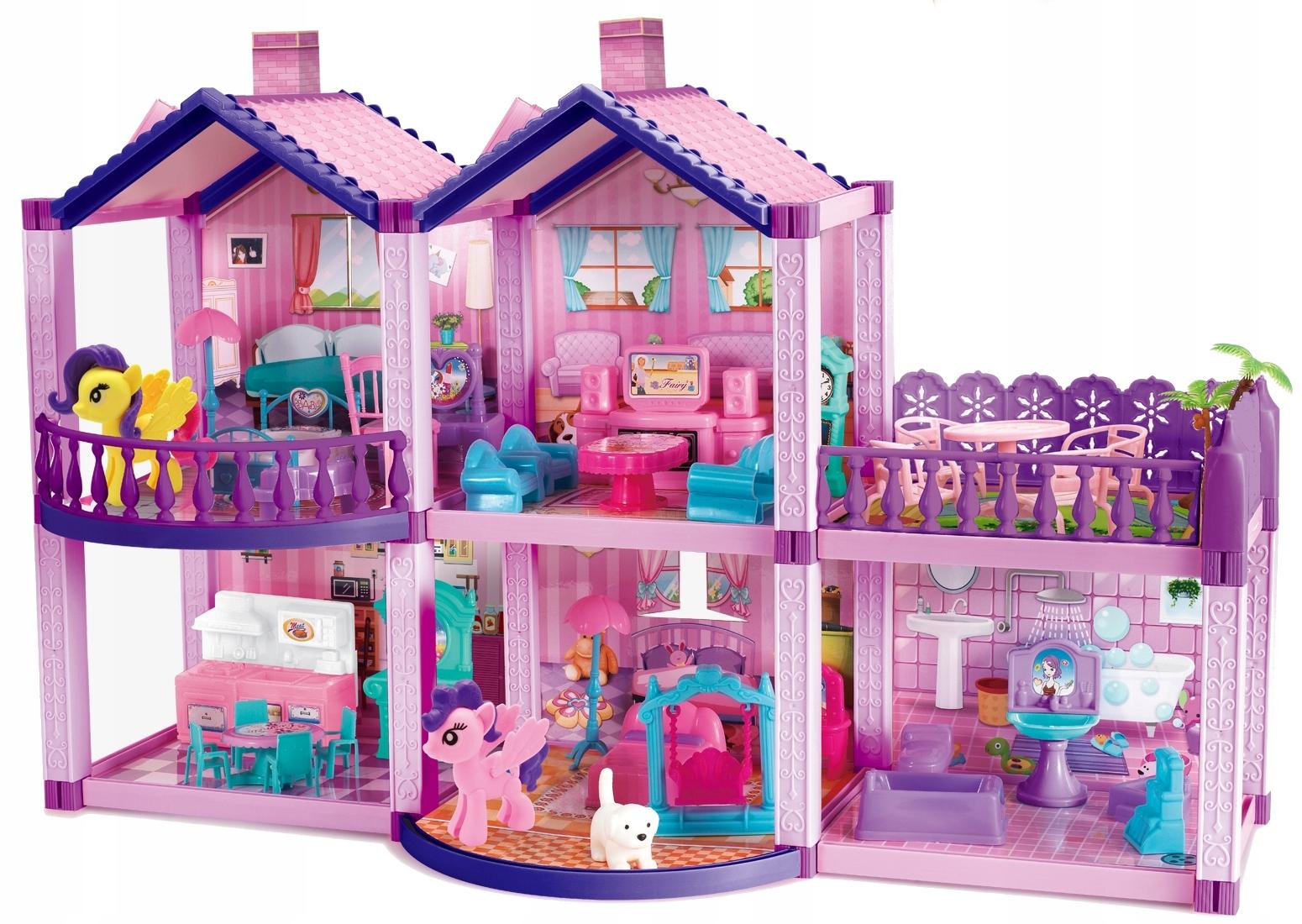 Domček pre bábiky Ponies Villa Figuríny NÁBYTKOVÁ TERASA