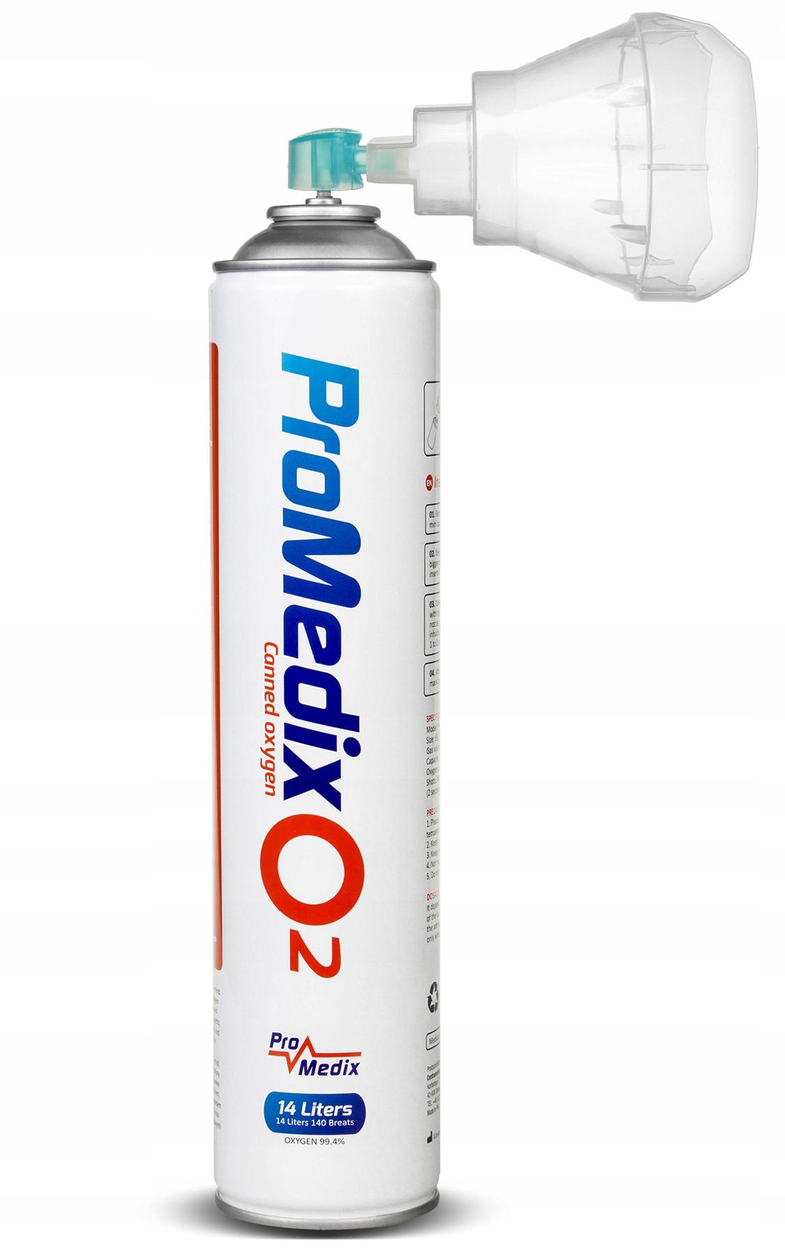 Tlen medyczny inhalacyjny w puszce 99% 14 litrów