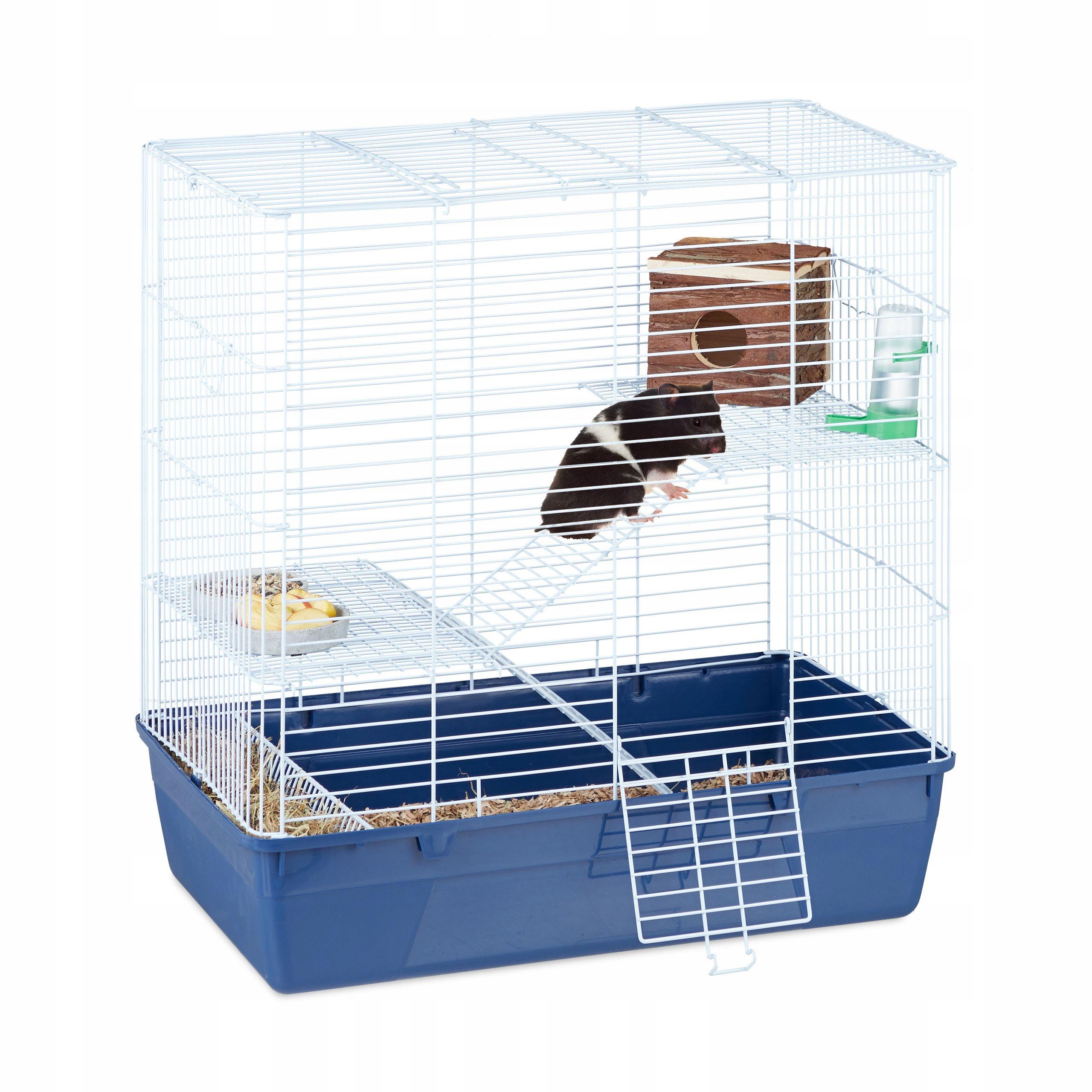 DUŻA Klatka Dla CHOMIKA Gryzonia Myszki DRABINKI