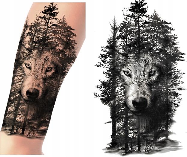 Tatuaż tymczasowy zmywalny dużo wzorów