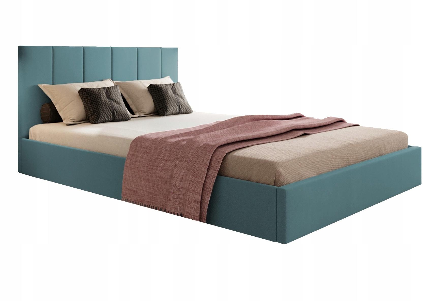 Кровать мягкая 140х200 с ящиком и каркасом