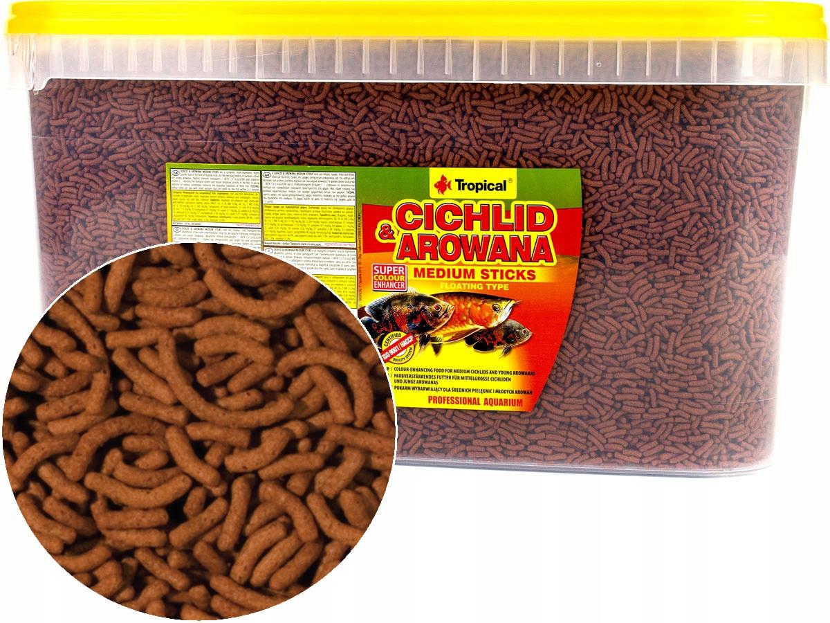 TROPICKÉ cichlid&Arowana Palice M 3,6 kg Krmiva