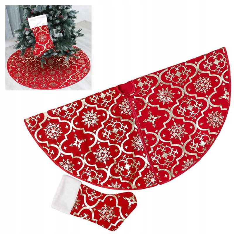 červená sukňa na vianočný stromček Vianoce + 1 ponožky