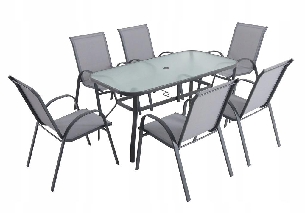 Zestaw mebli ogrodowych LAURA, stół + 6 krzeseł