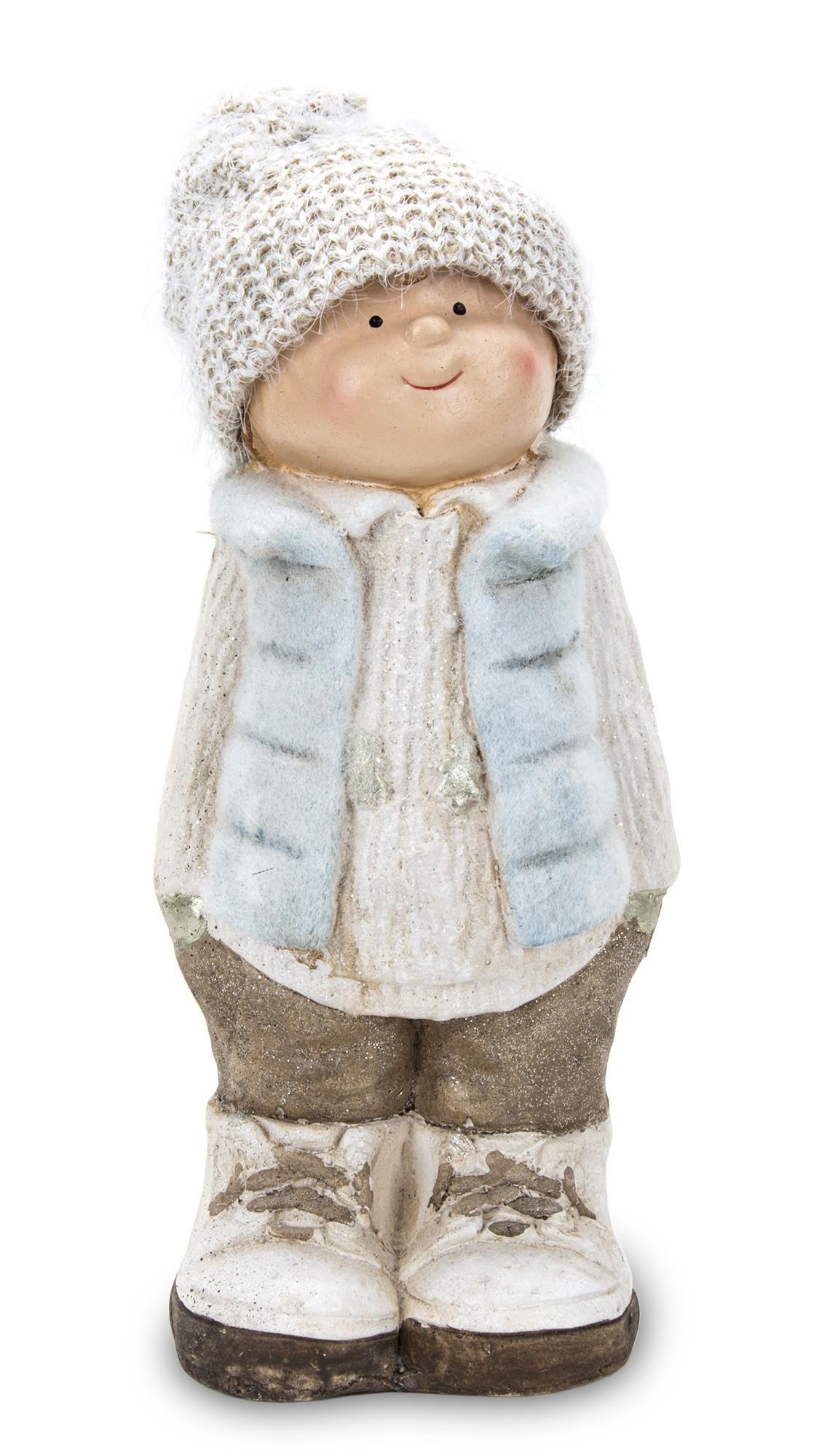 Фигурка новогоднего мальчика в зимнем наряде 33,5