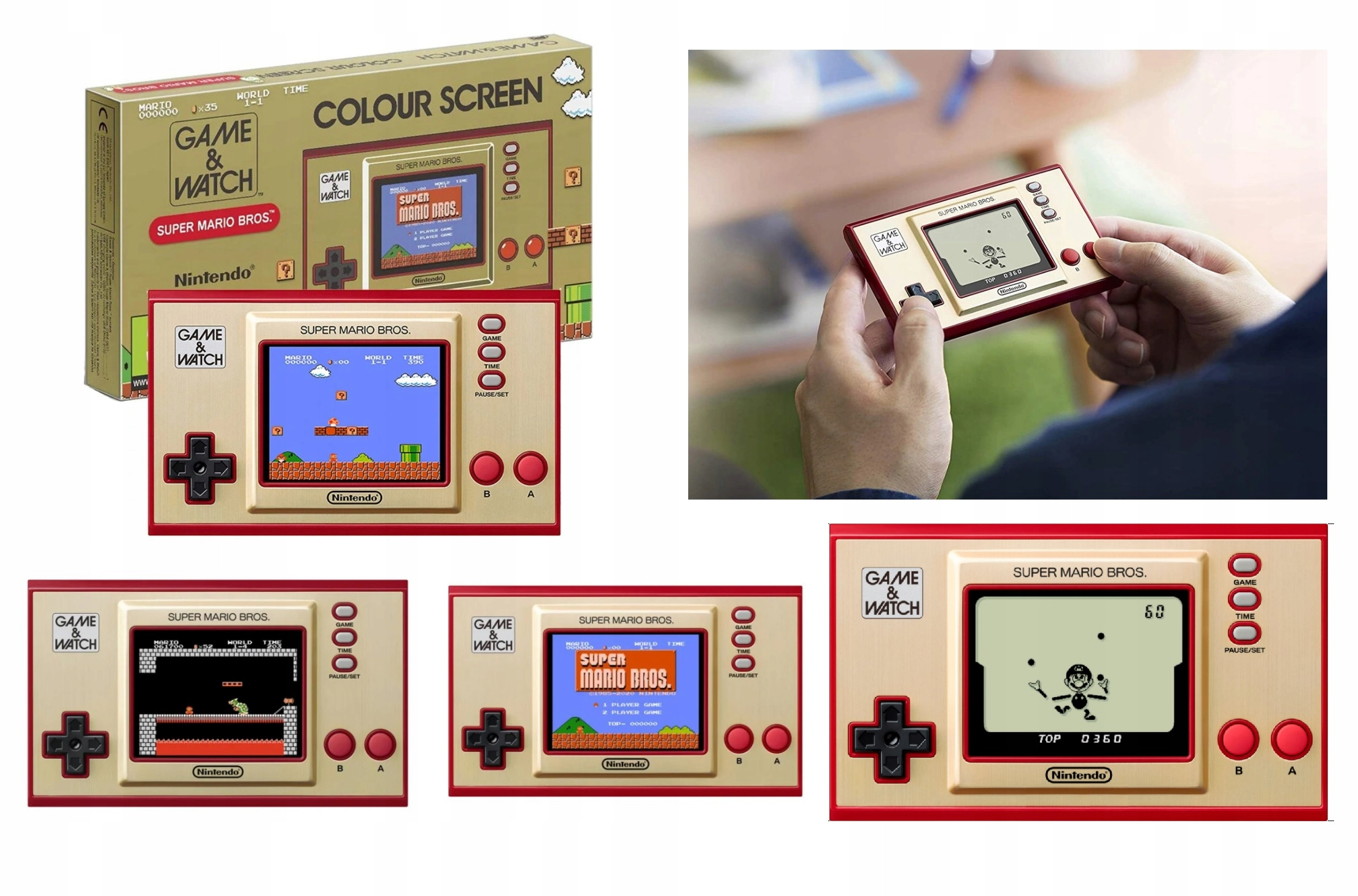Nintendo hra a hodinky Super Mario Bros konzola