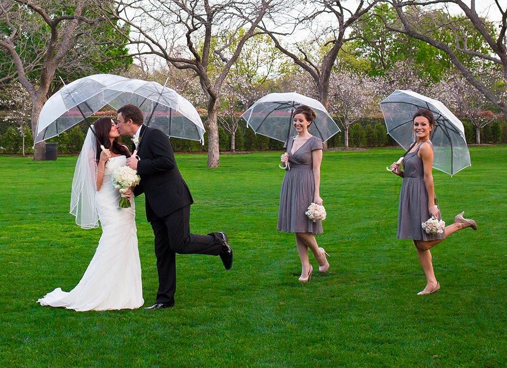 Parasol Parasolka Przezroczysta Transparentna Ślub Model Przezroczysta