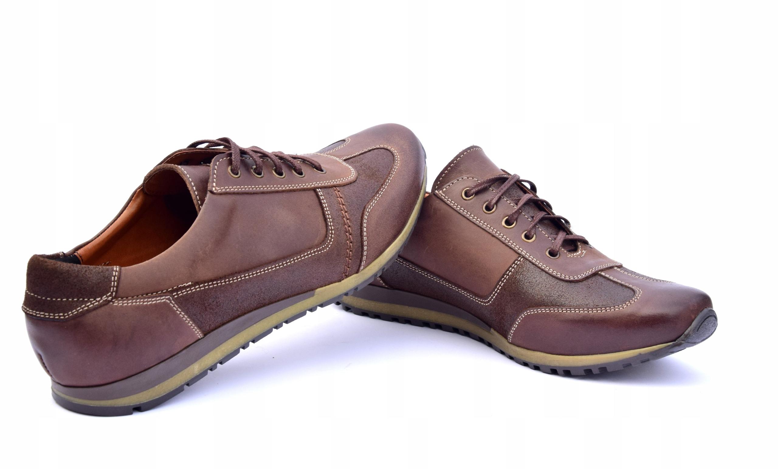Półbuty skórzane brązowe obuwie ze skóry PL 294 Marka inna