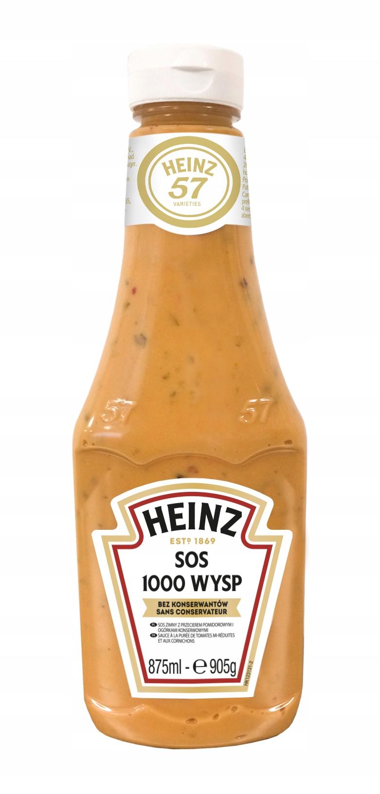 Островной соус Heinz 1000 кисло-сладкий вкус 875мл
