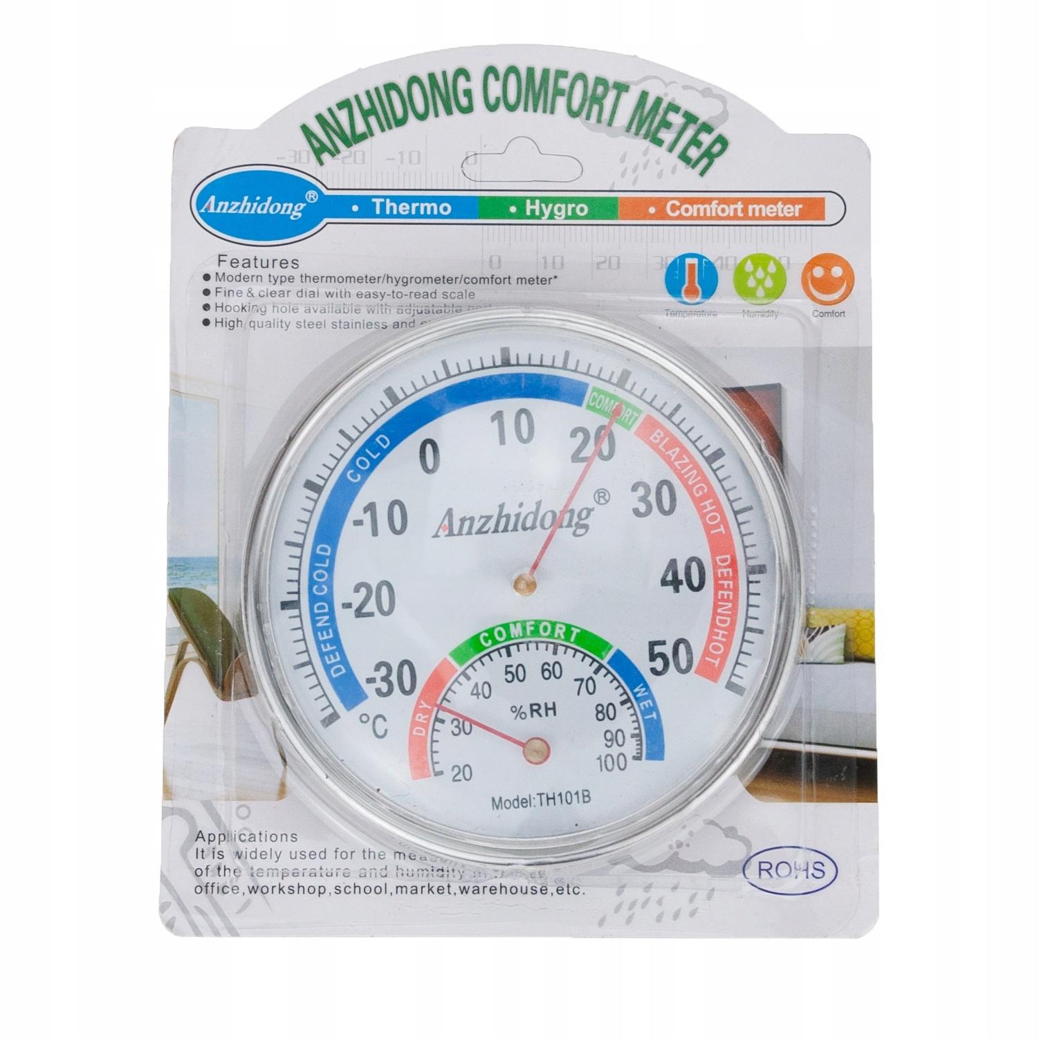Termometr Higrometr wilgotnościomierz ANALOGOWY