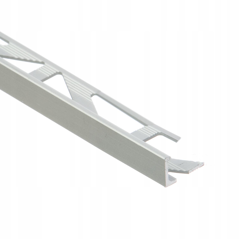 Угловой профиль для плитки 8 мм L = 3м серебро Цезарь