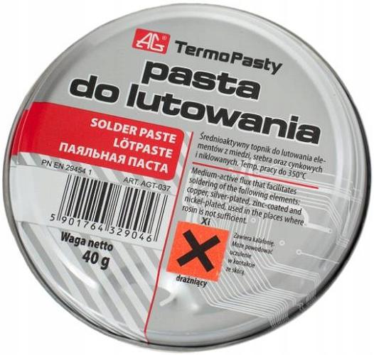 Паяльная паста 40г для пайки AG TermoPasty