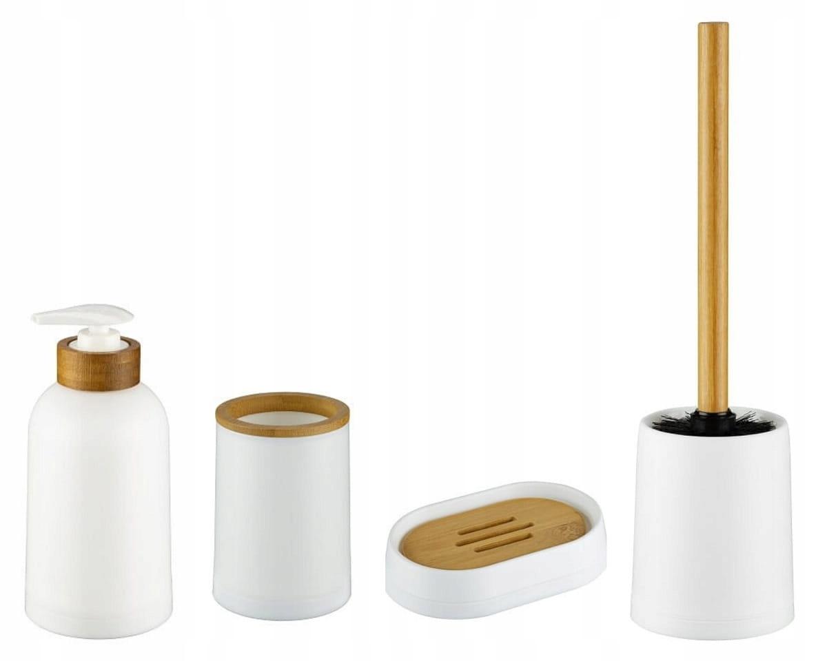 Sada kúpeľňových doplnkov 4 ks. biely