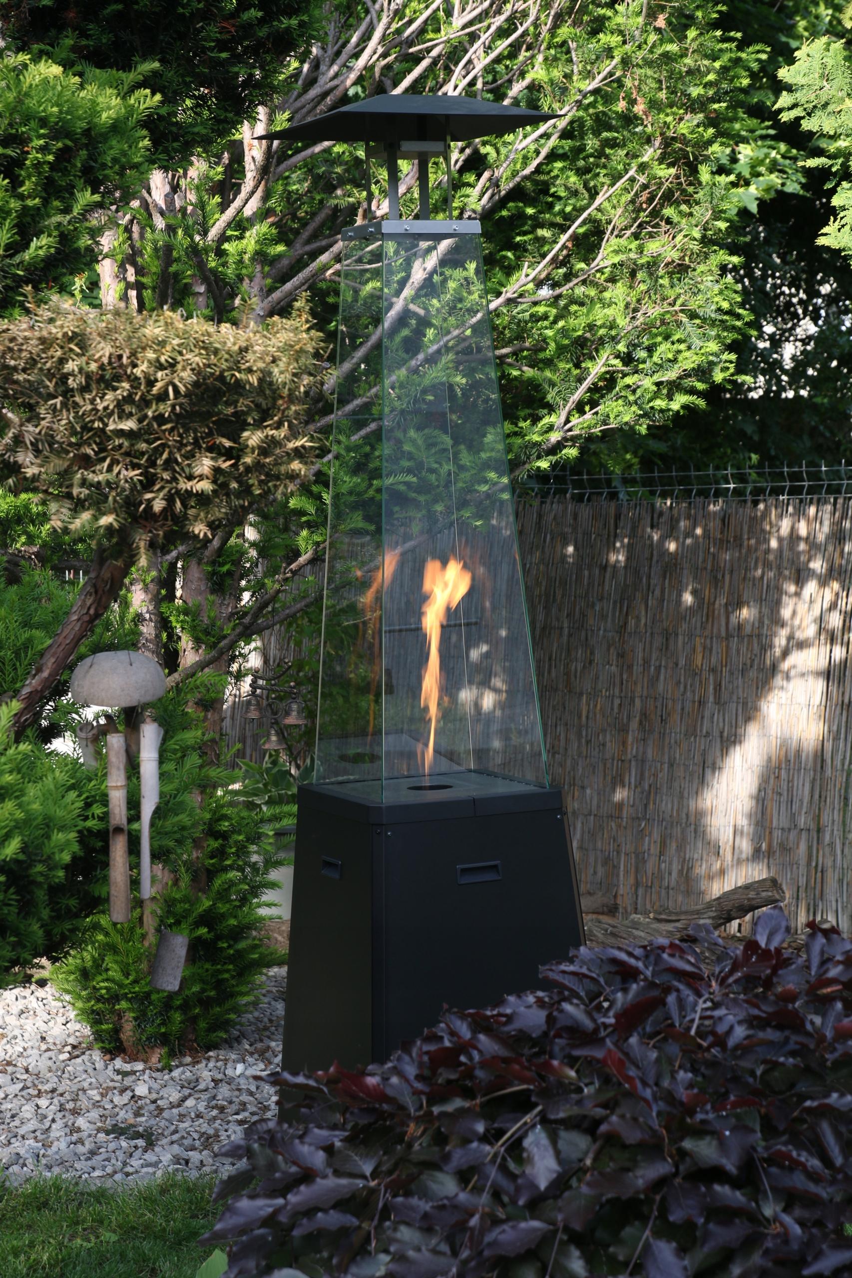 plynový ohrievač vykurovací dáždnik čierny UMBRELLA Maximálna dĺžka 54 cm