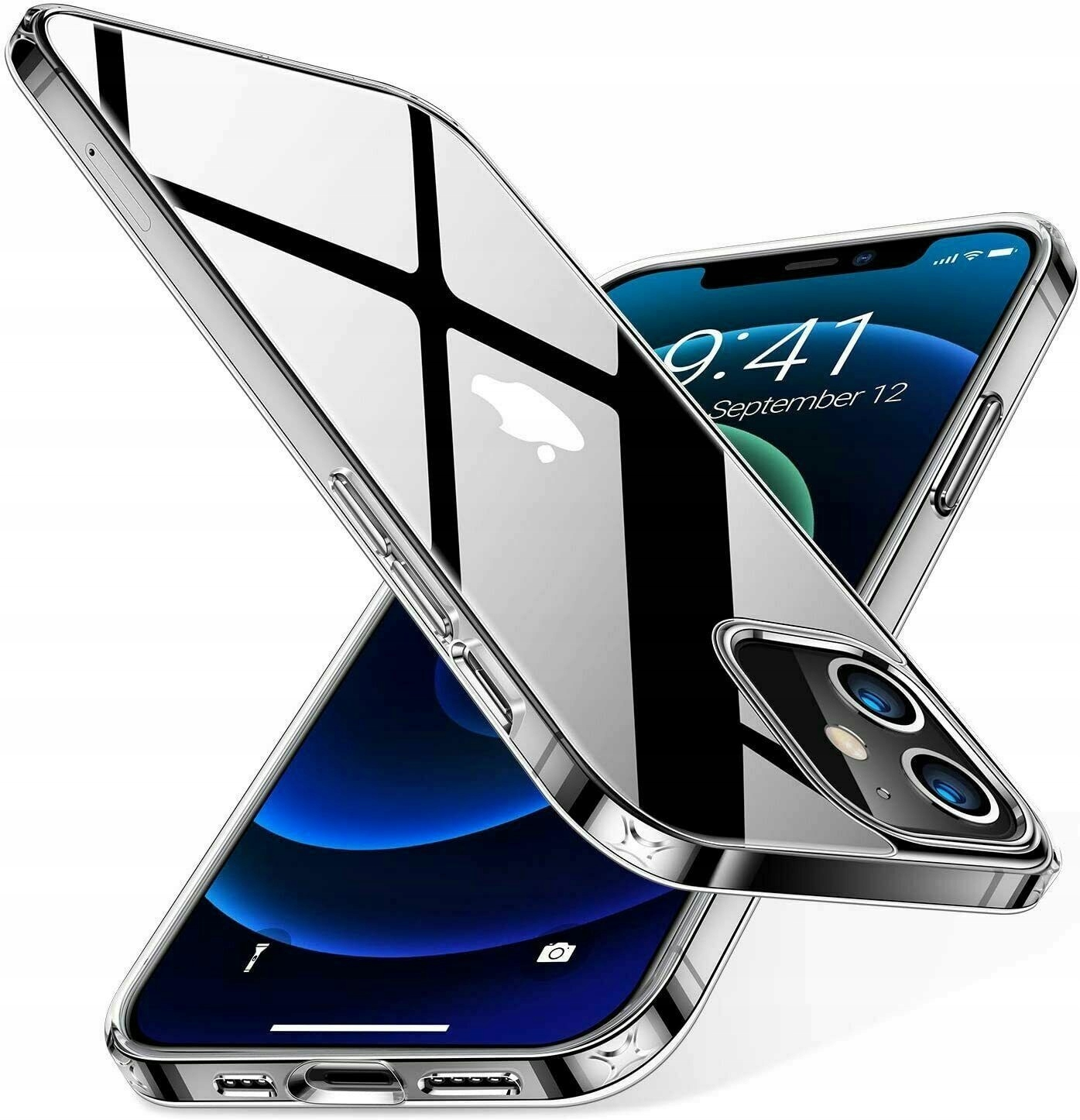 Slank CASE CLEAR + Glass 9H til IPHONE 12 Mini