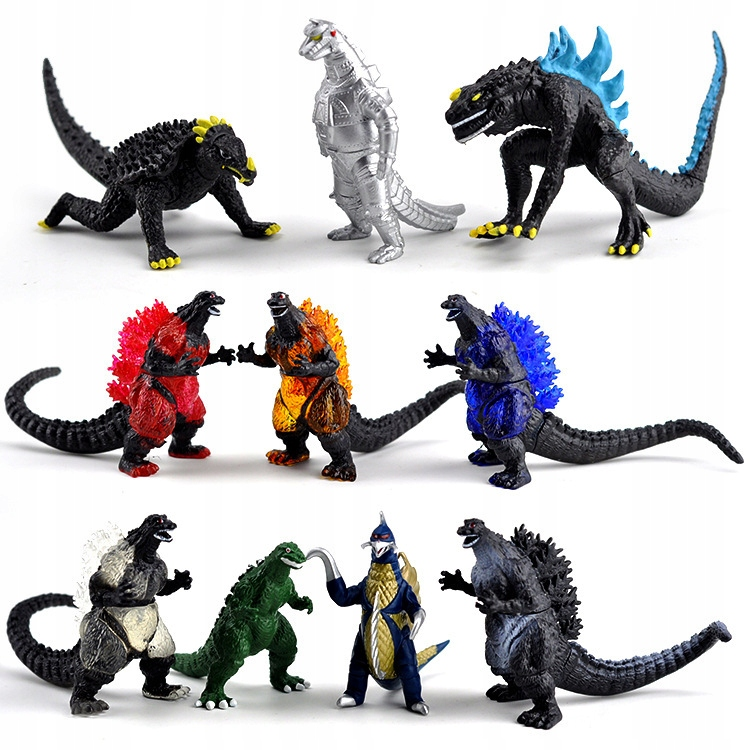 10ks Gojira Godzilla 6cm PVC akčná figúrka