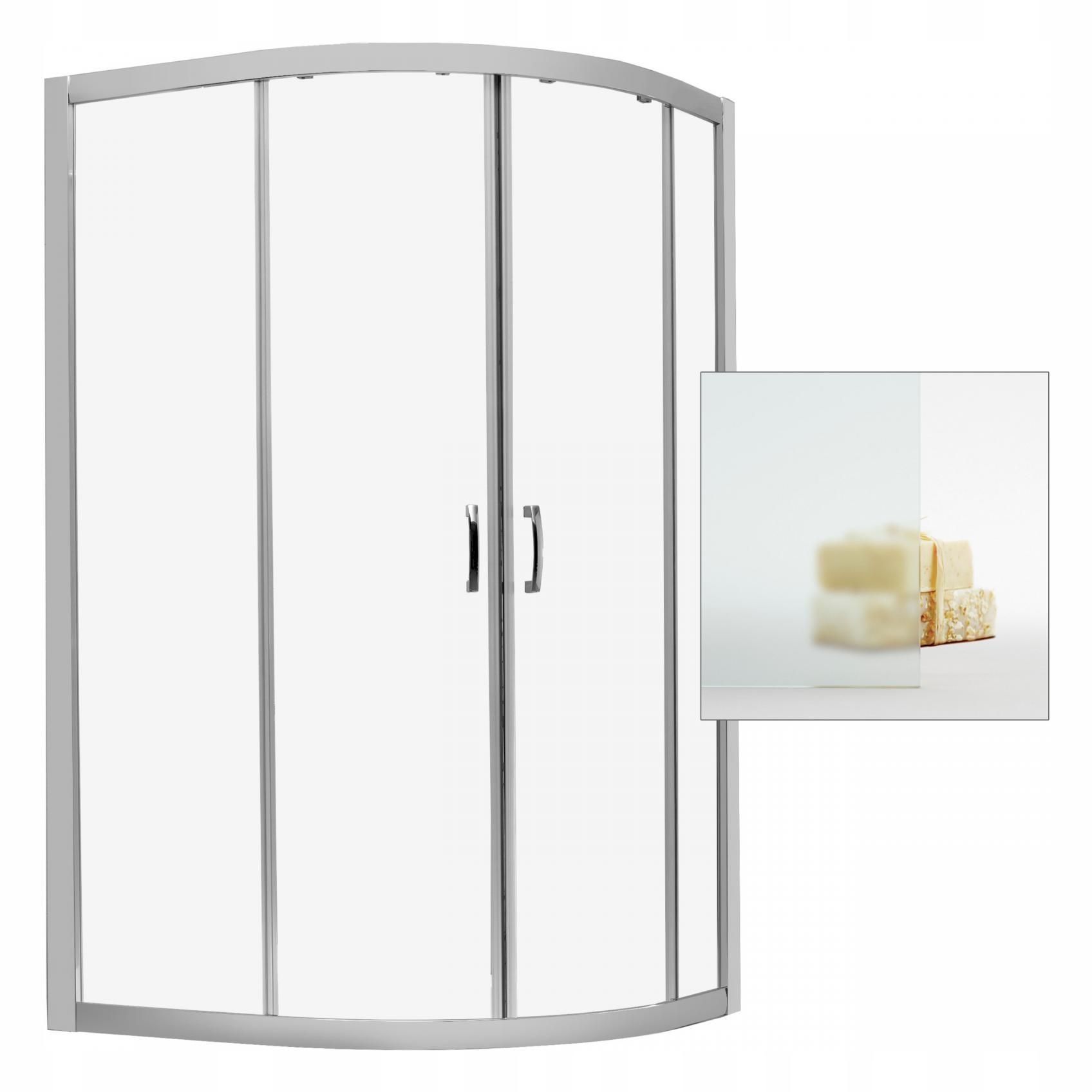 Kabína sprchovacím kútom Premium Plus E 1700 120x90 satin