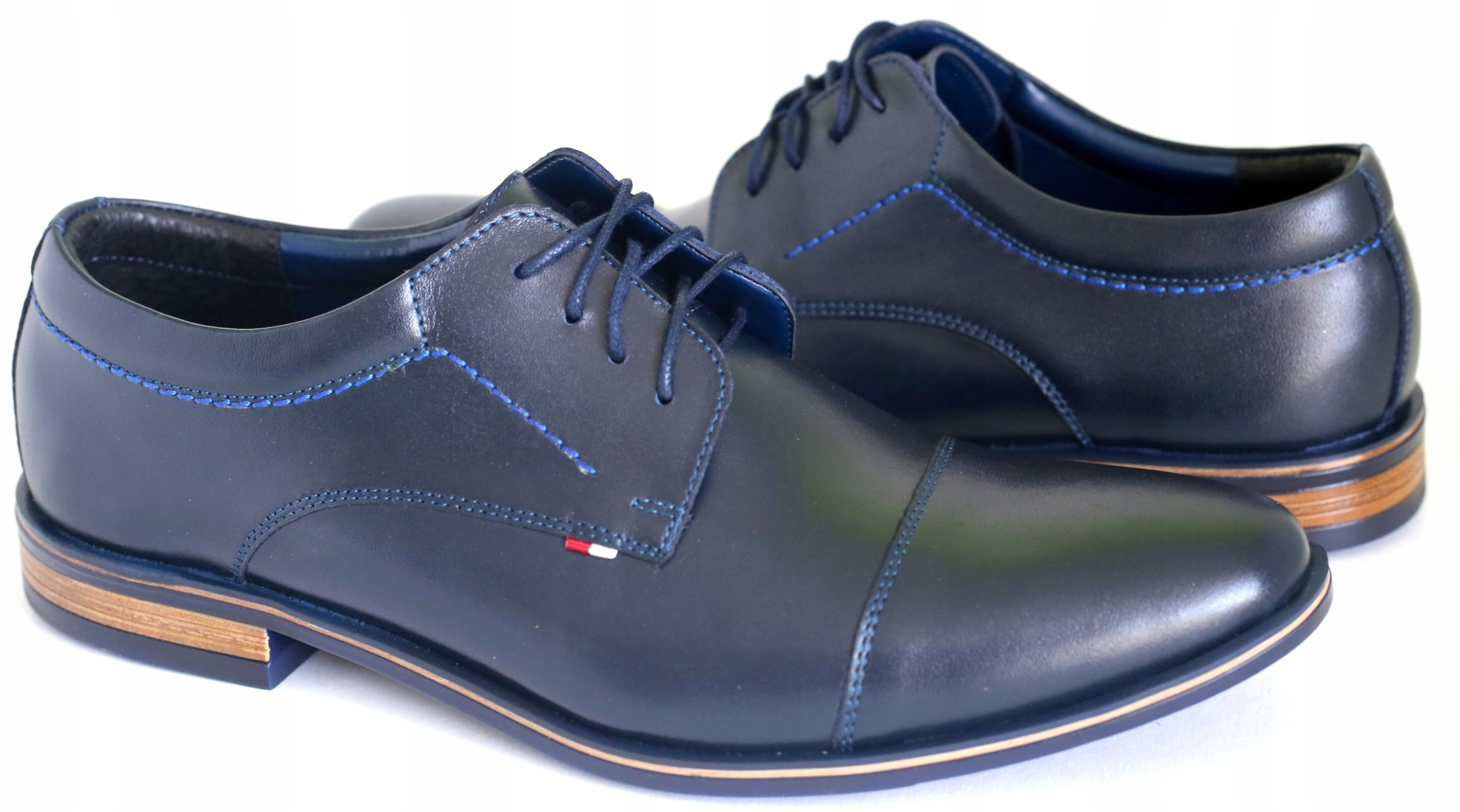 Granatowe obuwie wizytowe 323 N