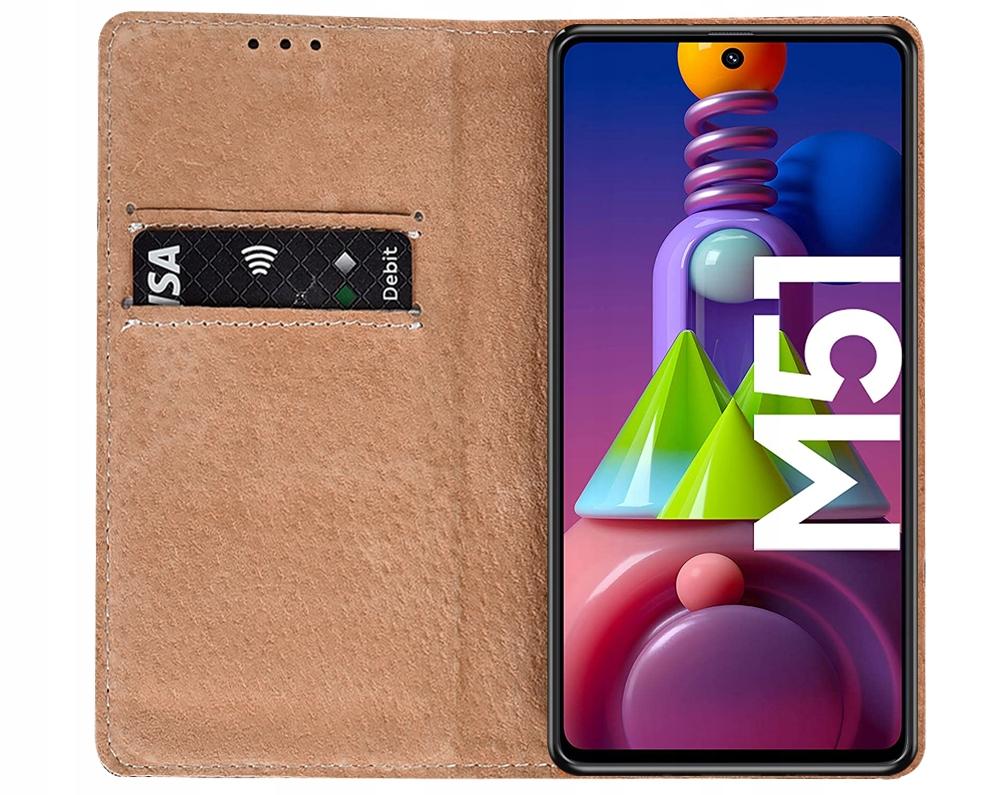 Etui do Samsung Galaxy M51 Skórzane Portfel +Szkło Producent KrainaGSM