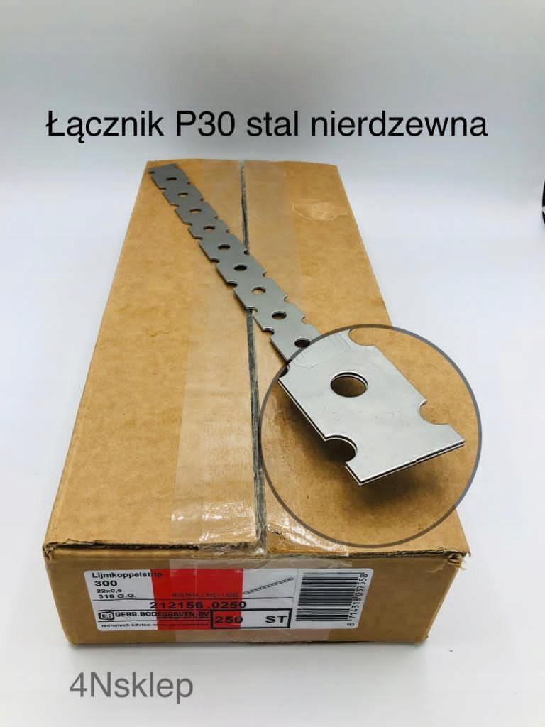 Настенный соединитель P30, нержавеющая сталь, 100 шт.
