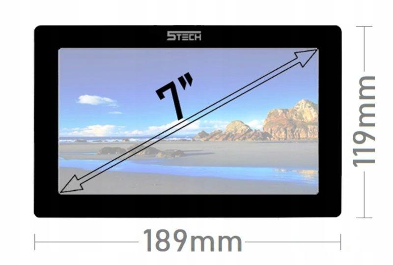 Wideodomofon Videodomofon 7' WiFi 5TECH TELEFON Informacje dodatkowe Czytnik kart zbliżeniowych Ekran dotykowy Interkom Sterowanie napędem bramy Sterowanie oświetleniem