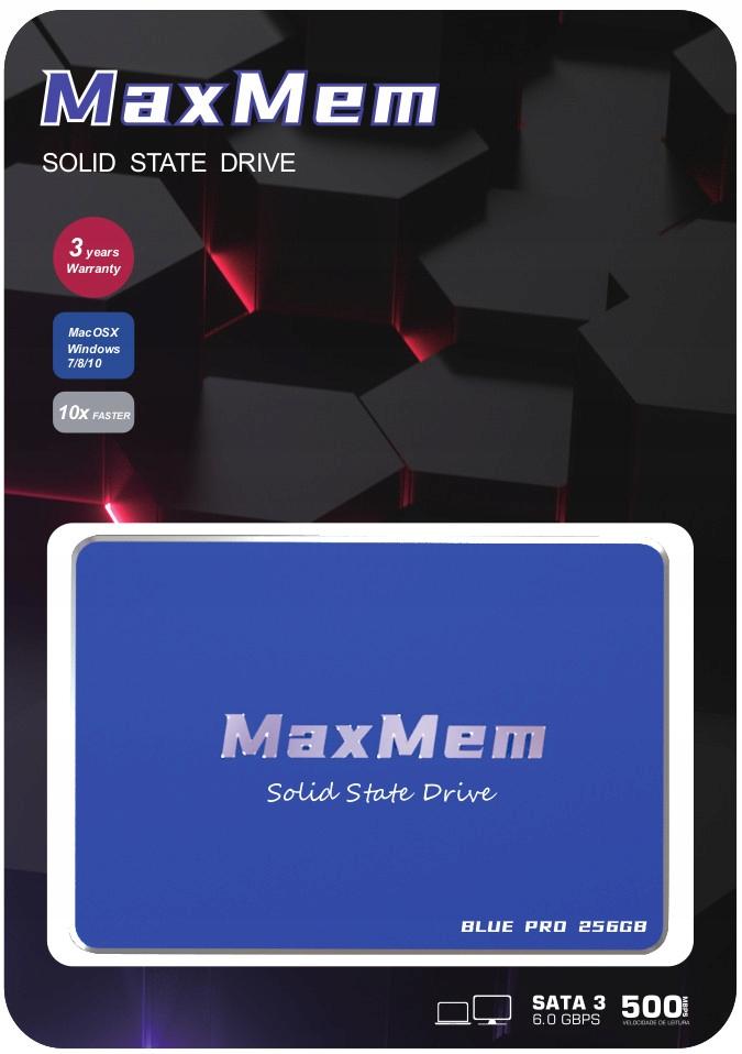 Купить MaxMem Blue Pro 256 ГБ SATA3 3D NAND МЕТАЛЛИЧЕСКИЙ SSD на Otpravka - цены и фото - доставка из Польши и стран Европы в Украину.