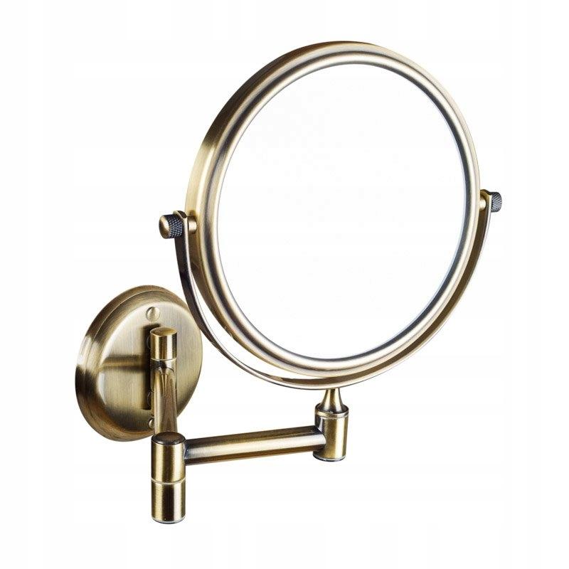 Závesné kozmetické zrkadlo, 150 mm, bronz