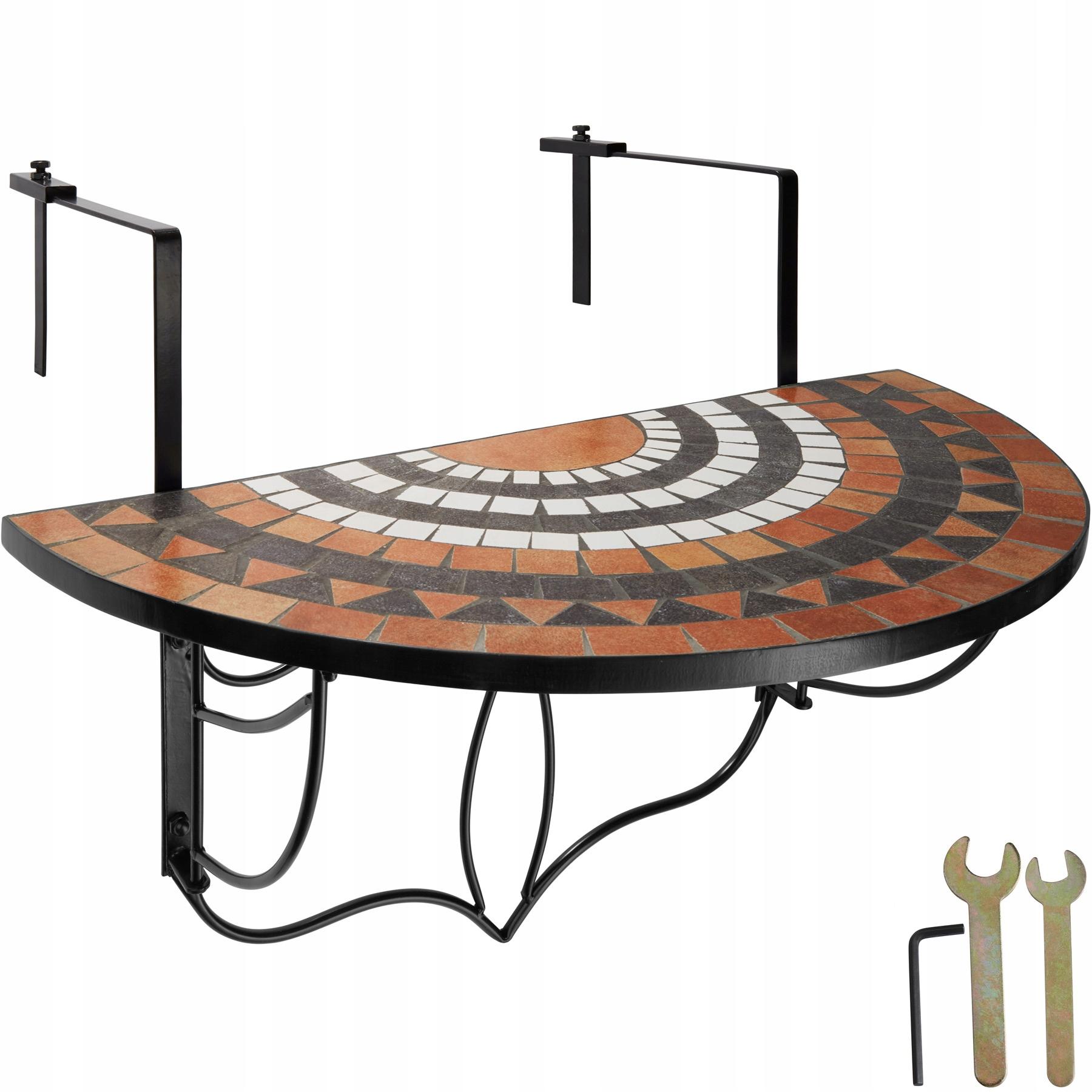 Rozkladací balkónový stôl, mozaika 402774