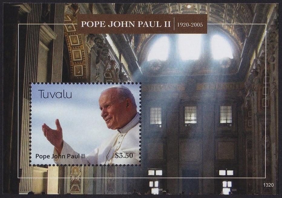 Тувалу 2013 Mi BL 208 ** Папа Иоанн Павел II