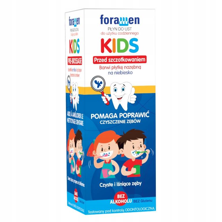 FORAMEN KIDS Płyn do ust barwiący zęby dropingo
