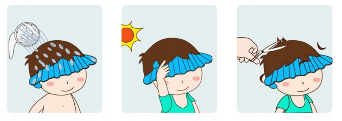 Rondo kąpielowe mycia głowy daszek kąpiel dzieci Kolor dominujący niebieski