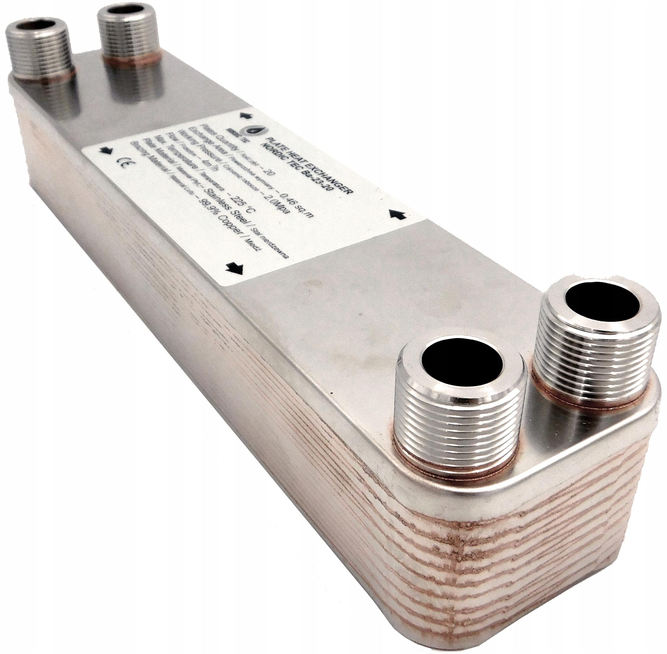 Теплообменник 25 кВт, 20 пластин 3/4 'NORDIC Tec