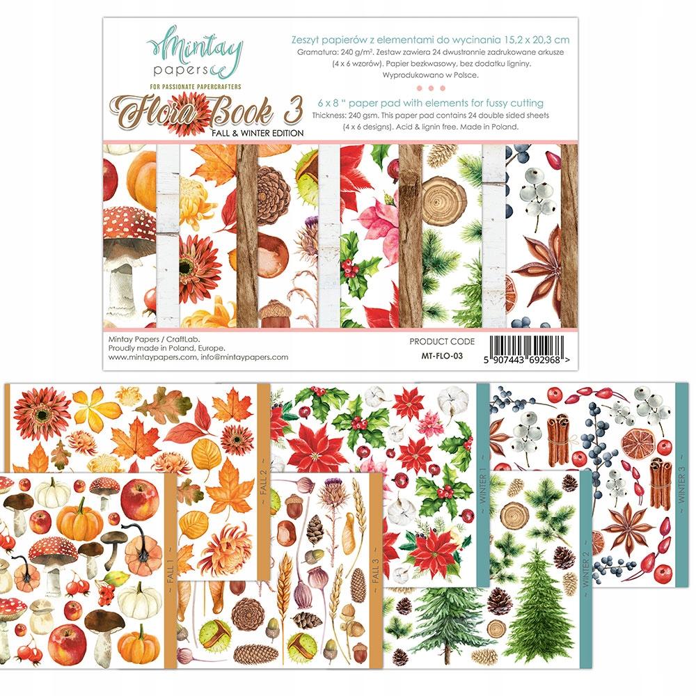 Mintay Flora Book 15x20 см набор бумаги 3