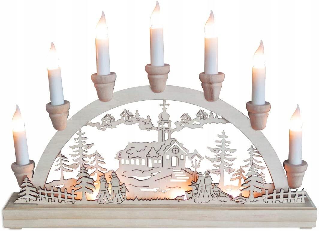 Новогоднее украшение светодиодные свечи 36 х 27 см