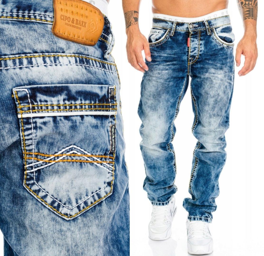 Jeansy Spodnie Jeansowe CIPO BAXX Przecierane NEW