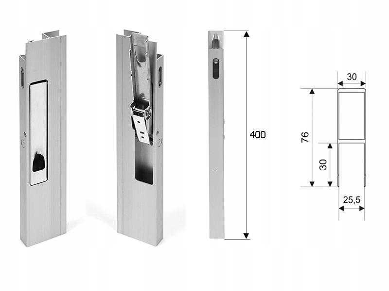 H400 P / L алюминиевый боковой вертикальный замок