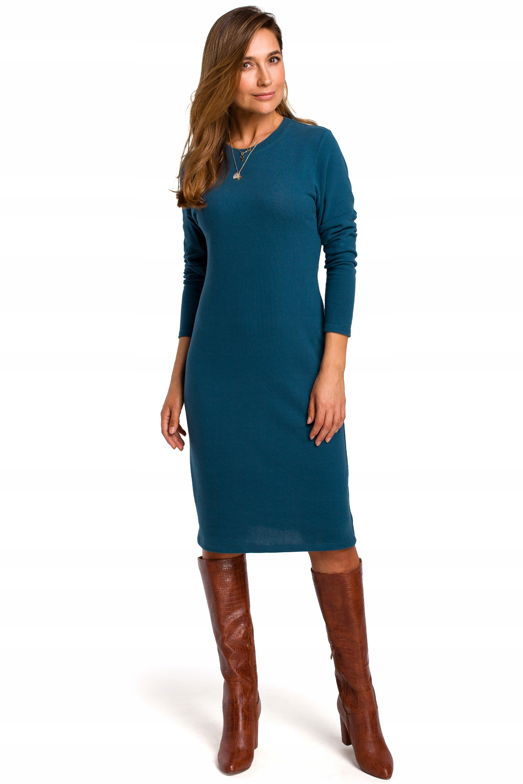 S178 Sukienka swetrowa z długimi rękawami - 38 | M