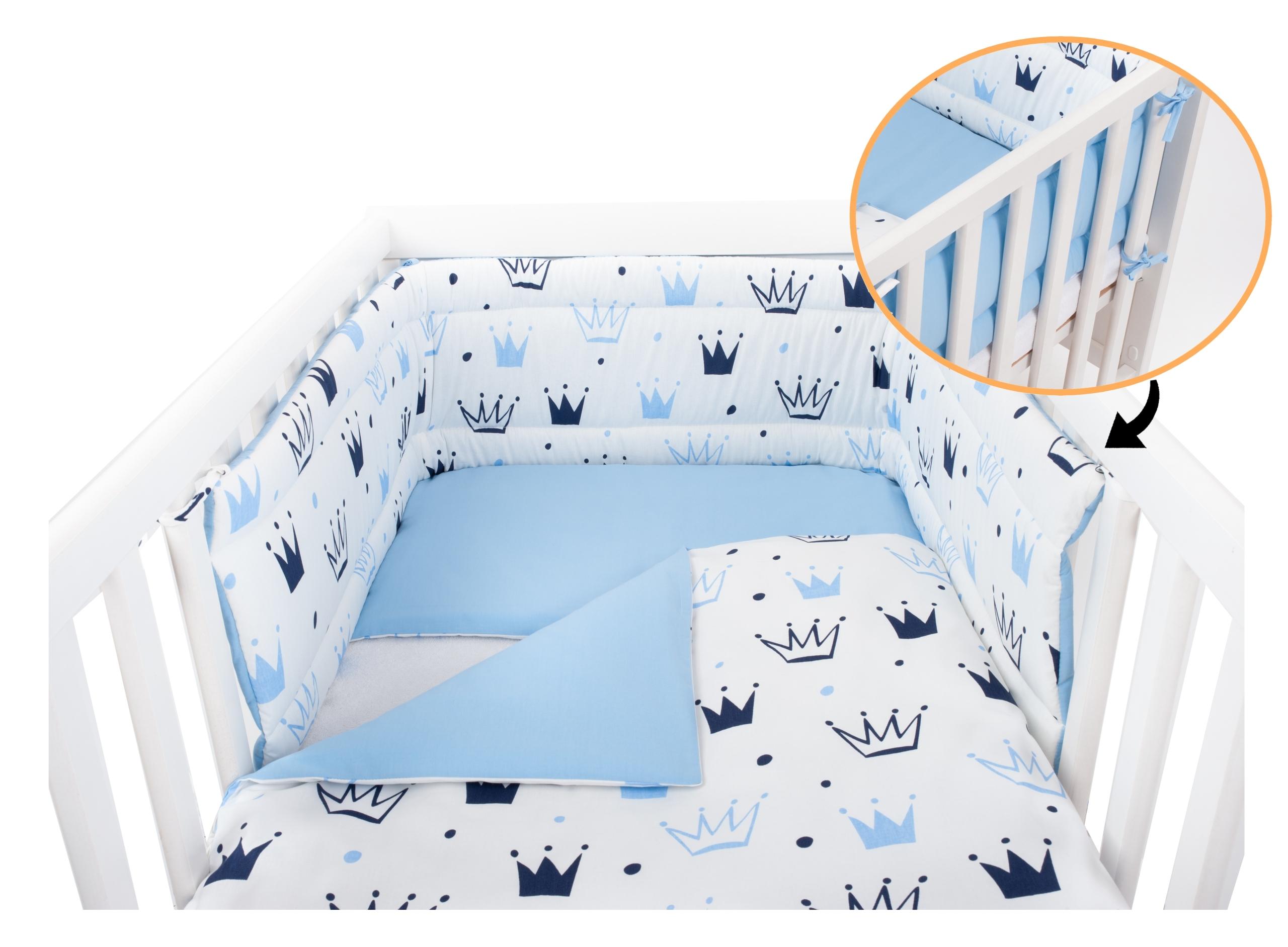 ПРИМО Детское постельное белье для детской кроватки, бампер 3EL