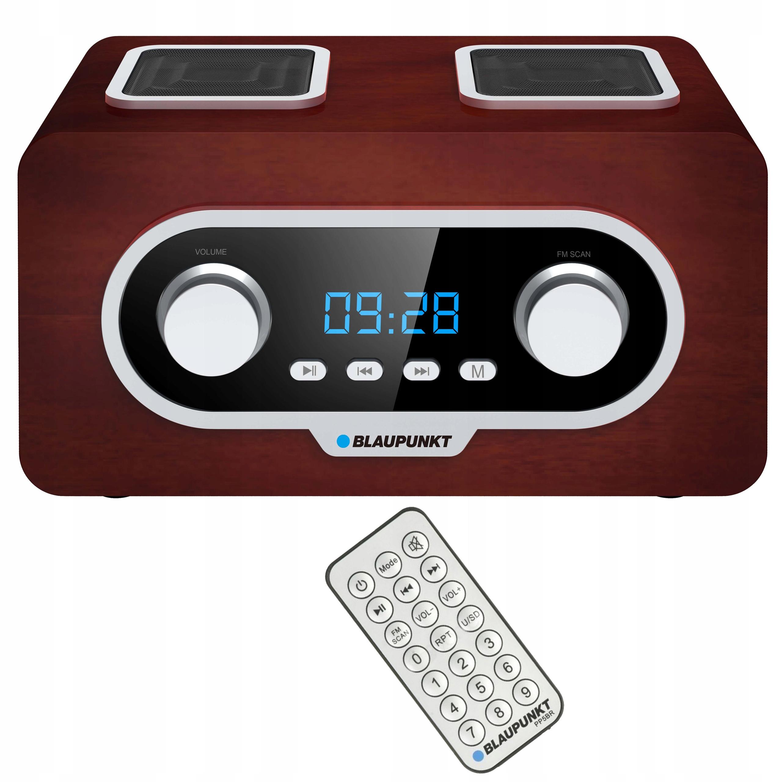 BLAUPUNKT PRENOSNÉ RÁDIO FM, USB, MP3, DIAĽKOVÉ PP5.2BR
