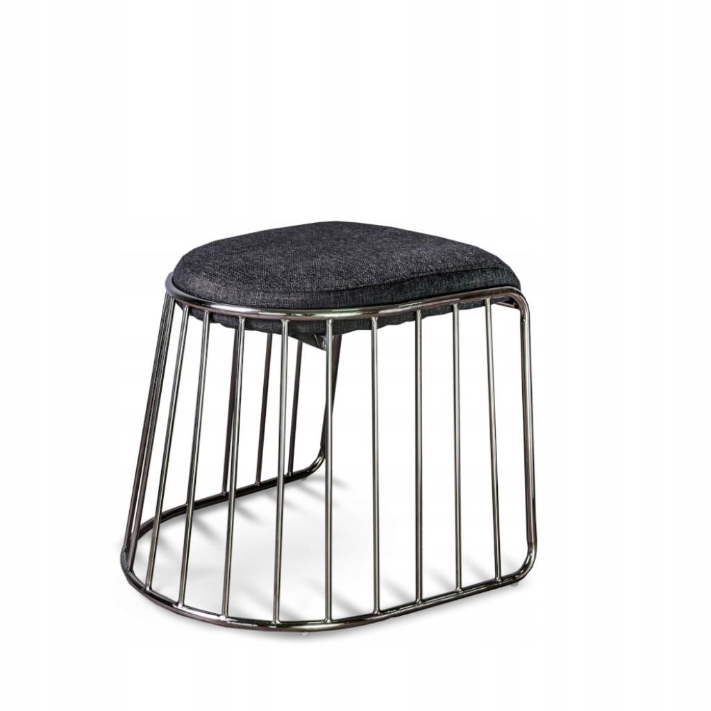Czarny stołek Fiji, siedzisko do salonu Gilli