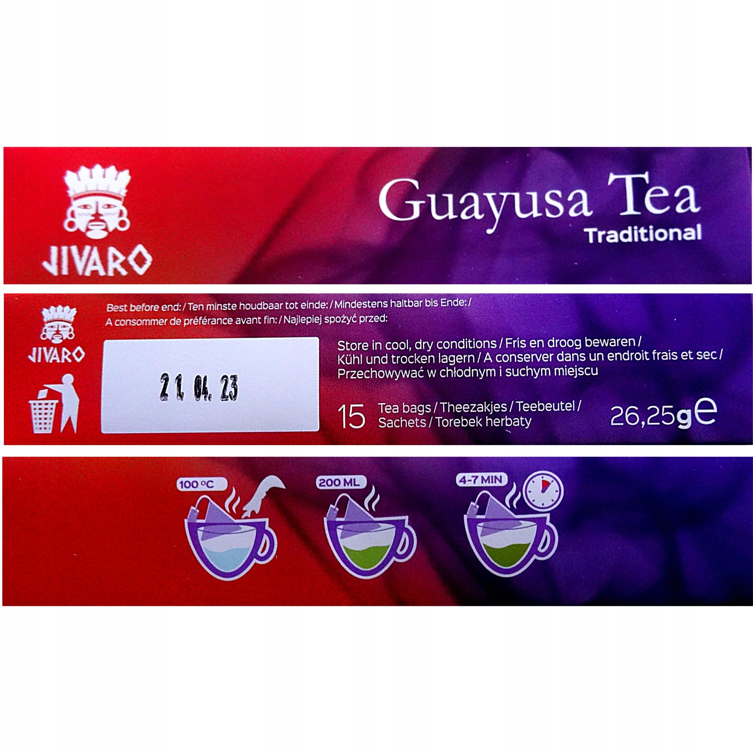 GUAYUSA Herbata JIVARO ZIELONA ENERGIA ENRGIA SLIM Marka Inna marka