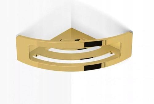 Rohová polica na košík Stella 16x16cm zlatá 16.032-G