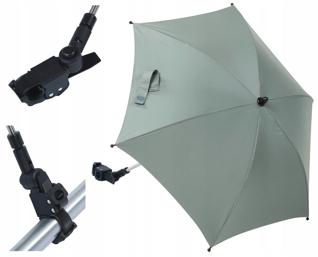 Titánový detský dáždnik do kočíka UV 50 ČIERNY NOVINKA