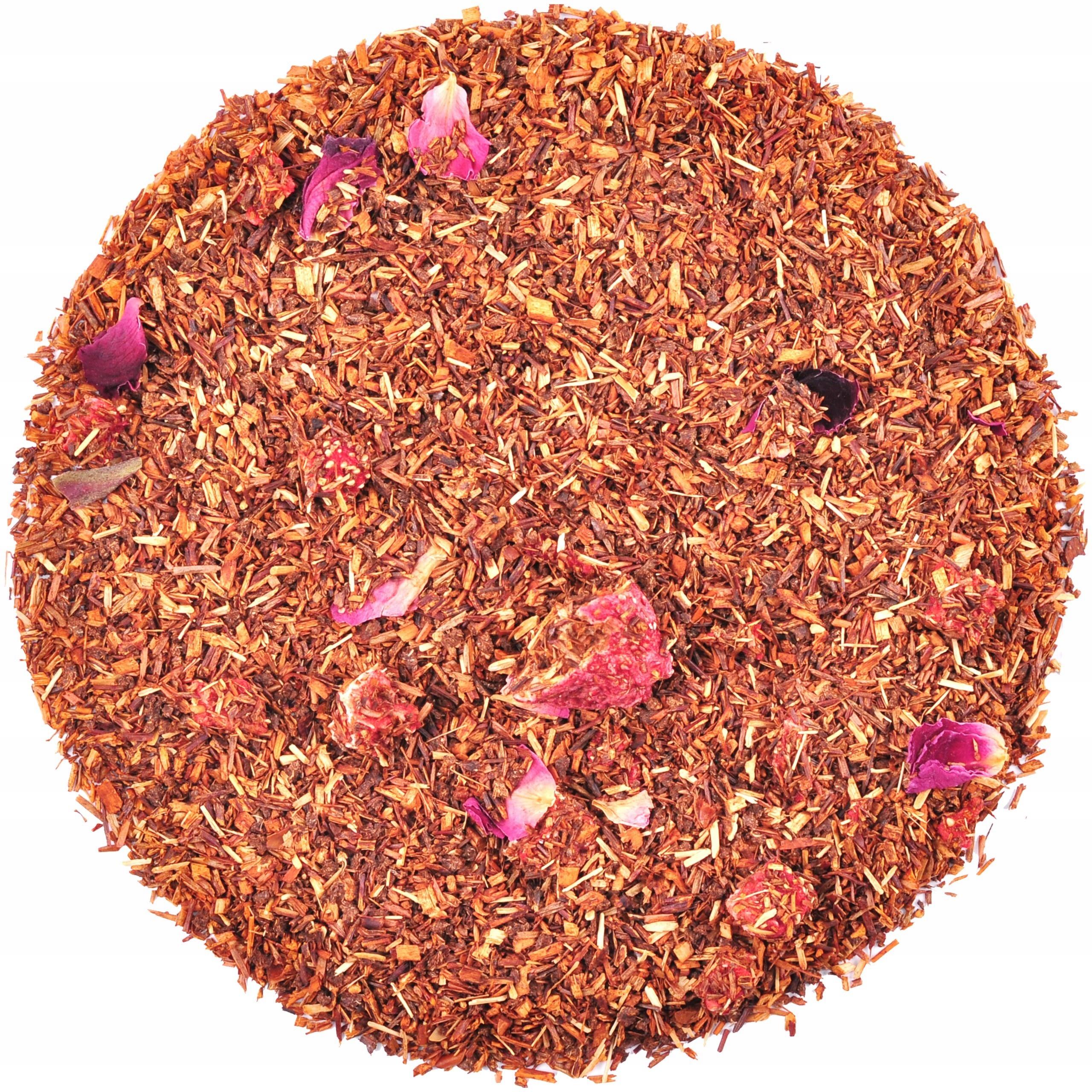 Herbata ROOIBOS POZIOMKOWY 50g SUPER SMAK
